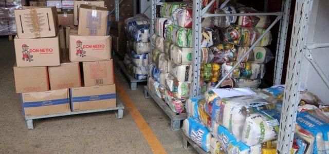 Banco de Alimentos recebe 3,7 toneladas de doações de comerciantes