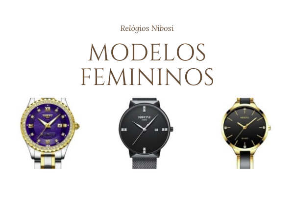 relógio Nibosi feminino