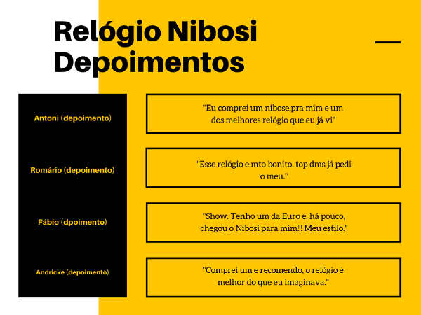 Relógio Nibosi é bom? depoimentos