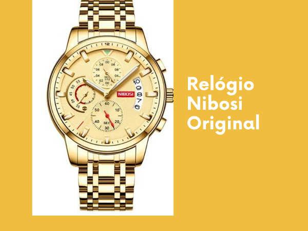 Relógio Nibosi original: modelo de luxo e baixo custo